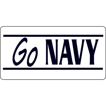 Go Navy Photo License Plate