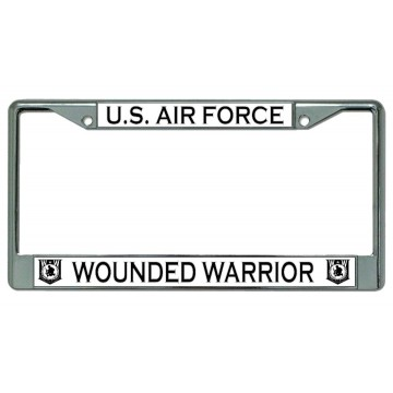 U.S. Air Force Wounded Warrior Chrome License Plate Frame