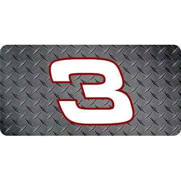 Dale Earnhardt #3 Diamond Plate Flat Photo License Plate