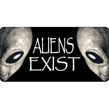 Aliens Exist Photo License Plate