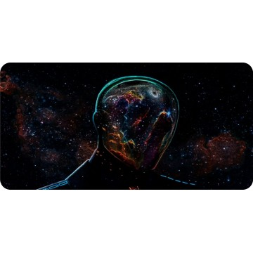 Alien Transparent In Space Photo License Plate