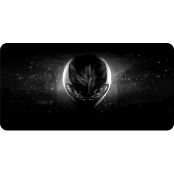 Alien In Space Centered Photo License Plate