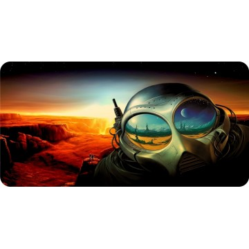 Alien On Planet Photo License Plate