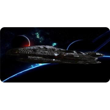 Battlestar Galactica Spaceship Photo License Plate