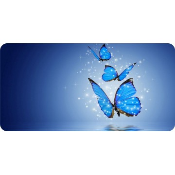 Blue Butterflies Photo License Plate