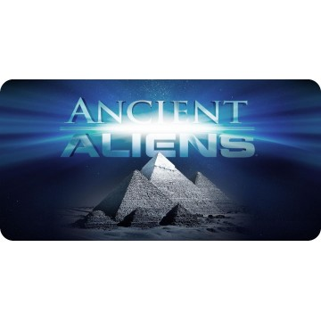 Ancient Aliens Pyramids Photo License Plate