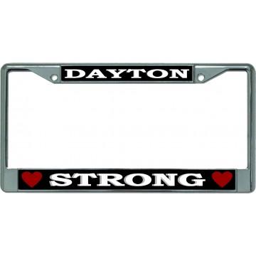 Dayton Strong Chrome License Plate Frame