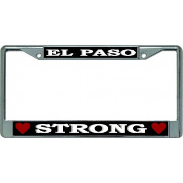El Paso Strong Chrome License Plate Frame