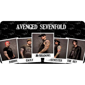 Avenged Sevenfold Band Members Photo License Plate