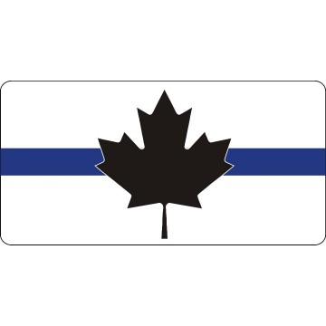 Canada Thin Blue Line Flag Photo License Plate