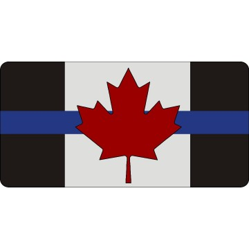 Canada Thin Blue Line Flag #2 Photo License Plate