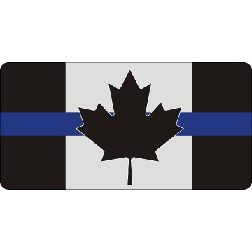 Canada Thin Blue Line Flag #3 Photo License Plate