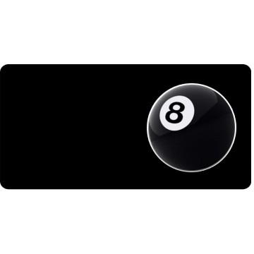 8 Ball Offset Photo License Plate