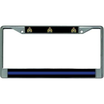 Thin Blue Line Canada Chrome License Plate Frame