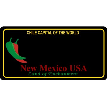 New Mexico Chile Capital Blank Photo License Plate