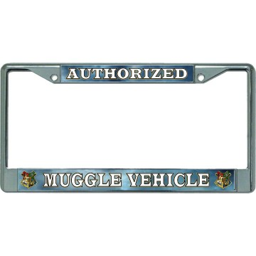 Authorized Muggle Vehicle #2 Chrome License Plate Frame