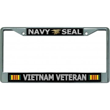 Navy Seal Vietnam Veteran Chrome License Plate Frame