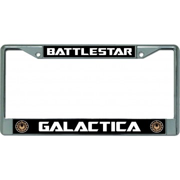 Battlestar Galactica Chrome License Plate Frame