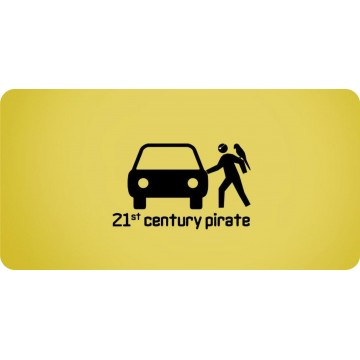 21st Century Pirate Photo License Plate