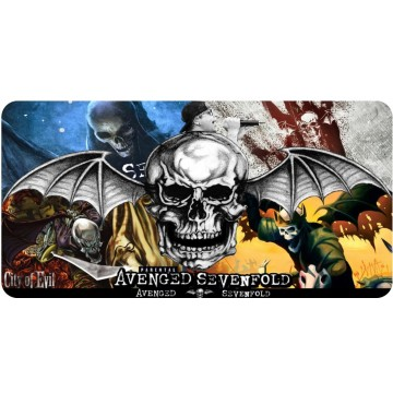 Avenged Sevenfold Collage Photo License Plate