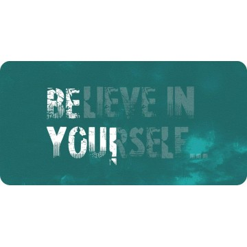 Believe In Yourself Photo License Plate