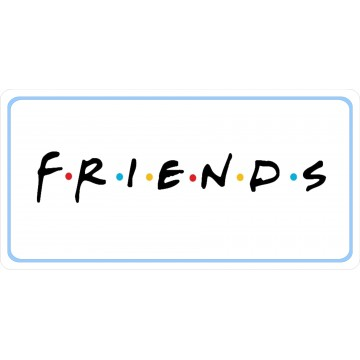 Friends Photo License Plate