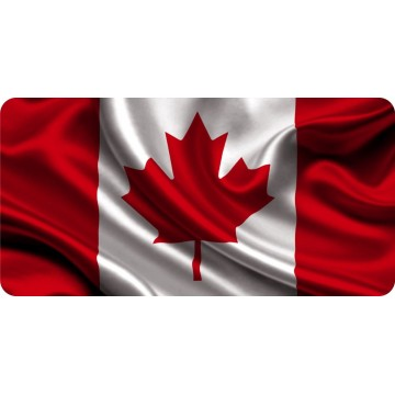 Canada Flag Wavy Photo License Plate