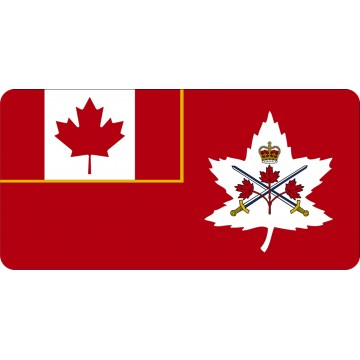Canadian Army Photo License Plate