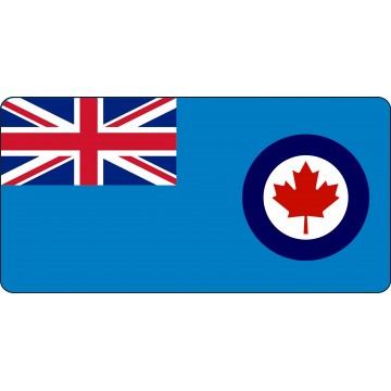 Royal Canadian Air Force Photo License Plate