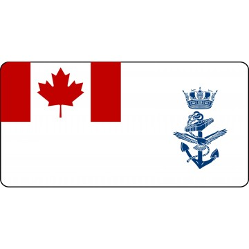 Royal Canadian Navy Photo License Plate