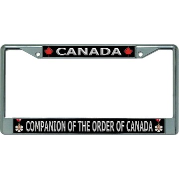 Canada Companion Of The Order Of Canada Chrome License Plate Frame