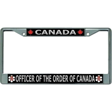 Canada Officer Of The Order Of Canada Chrome License Plate Frame