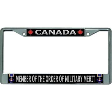 Canada Member Of The Order Of Military Merit Chrome License Plate Frame