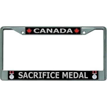 Canada Sacrifice Medal Chrome License Plate Frame