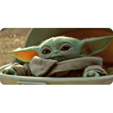 Baby Yoda Photo License Plate