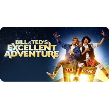Bill And Ted Excellent Adventure Photo License Plate