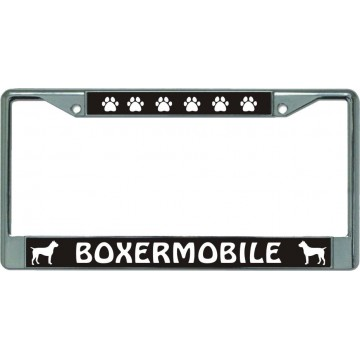 Boxermobile Chrome License Plate Frame
