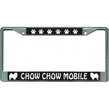 Chow Chow Mobile Chrome License Plate Frame