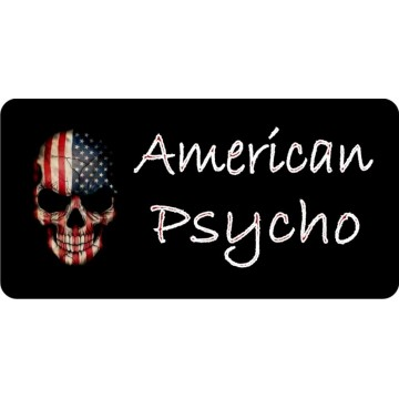 American Psycho Skull Photo License Plate