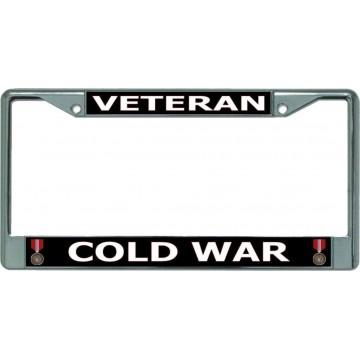 Cold War Veteran Chrome License Plate Frame