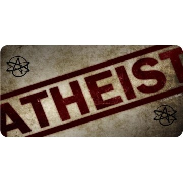 Atheist Print With Logos Photo License Plate
