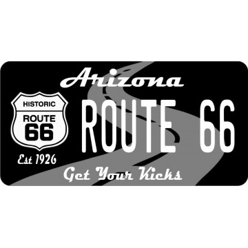 Arizona Route 66 Photo License Plate