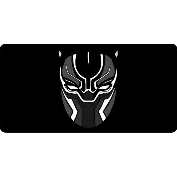 Black Panther Mask Photo License Plate