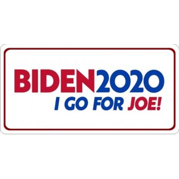 Biden 2020 I Go For Joe Photo License Plate