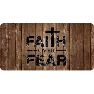 Faith Over Fear #2 Photo License Plate