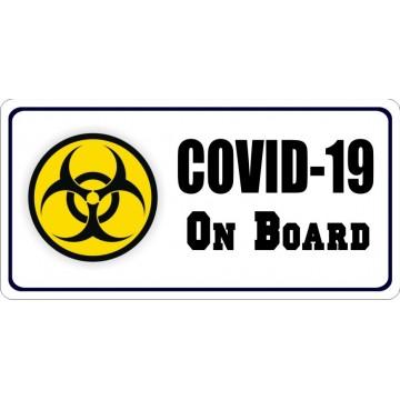 COVID-19 On Board Photo License Plate