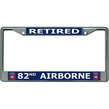 Retired 82nd Airborne Chrome License Plate Frame