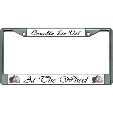 Cruella De Vil #3 Chrome License Plate Frame