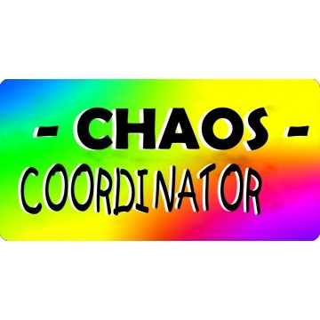 Chaos Coordinator Photo License Plate