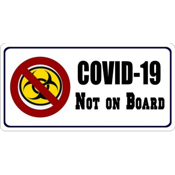 COVID-19 Not On Board Photo License Plate